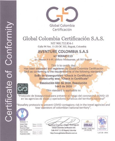covid biosecurite certificat